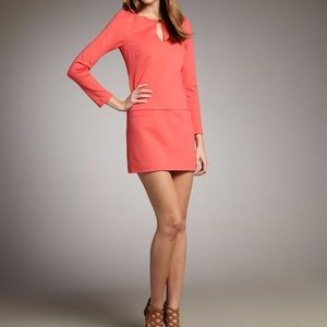 Trina Turk Long Sleeve Keyhole Dress